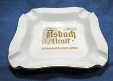Vintage Asbach Uralt German Brandy Porcelain Gold Ashtray Souvenir Cigarette Smo