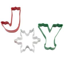 Wilton JOY 3 Piece Christmas Cookie Cutters
