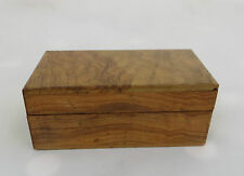 SMALL DECORATIVE WOOD / WOODEN POSTAGE / POSTAL STAMP STORAGE BOX OR SIMILAR