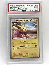 PSA 9 Mint Warm Pikachu Pokemon Japanese Card 97 Uniqlo 2014 Rare Promo *Pop 4*