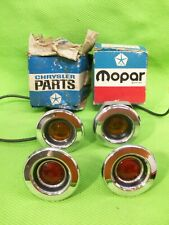 Set of NOS Mopar 1968 68 Side Marker Lights Fury GTX Satellite RoadRunner