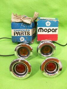 Set of NOS Mopar 1968 68 Side Marker Lights Fury GTX Satellite RoadRunner