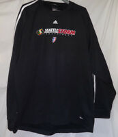 SEATTLE STORM Team Player Issued WNBA Basketball Adidas Pullover Shirt