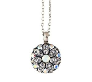 Mariana Guardian Angel Necklace, Clear and Opal Crystals (N-5212 001)