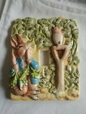 Beatrix Potter Peter Rabbit in the Garden Single Light Switch Plate Cover 1995