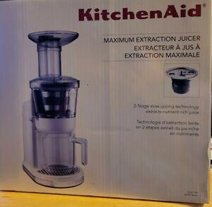 Kitchenaid Maximum Extraction Juicer White NIB ~Free Shipping~