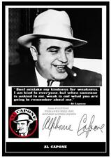 090. al capone gangster signed print size a4  great gift reprint
