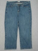 MH21417 REALLY NICE **LEE CAPRI, CROPPED WOMENS JEANS** sz12M