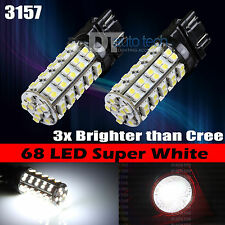 4X 3157 6000K Xenon White 68 SMD LED DRL Daytime Running Lights Bulbs