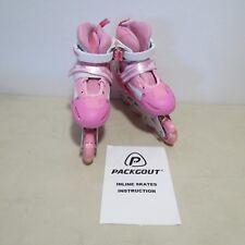 Packgout Girls Inline Skates Illuminating Front Wheel Pink Size 35-38