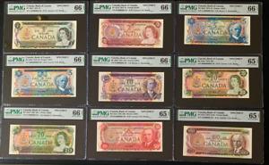 Canada 🇨🇦 1969-1979 -Complete Set Specimen Notes Match Serial #291 ALL GEM UNC