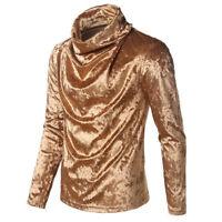 Hot Men's Warm High collar shirts Sweatshirt turtleneck sweater Long Sleeve Tops