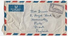 Gibraltar 1947 FPO 475 CDS On Air Mail Cover FDC From 2248235 Dennis R To Poole