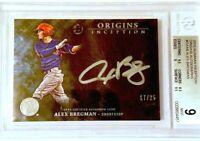 2016 Bowman Inception Origins Alex Bregman AUTO RARE Autograph 17/25 BGS 9/10!
