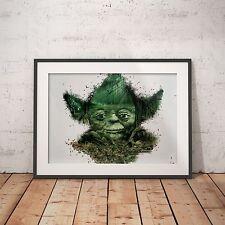 Yoda forest cool peinture-affiche A4-livraison gratuite