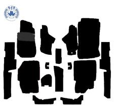 Teppichsatz für Mercedes W123 Coupe schwarz 15 Teilig Kunstleder verziert + 2M