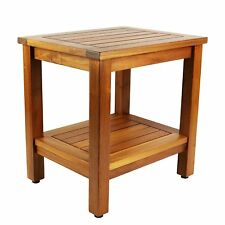 NEW - Teak Shower Bench: 18 inch Java Bench - FREE SHIPPING!!!