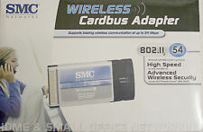 NEW - SMC Wireless Cardbus WiFi Adapter -Sealed Box- 802.11g SMCWCB-G EZ Connect