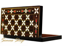 Orientalische BACKGAMMON TAVLA XXL Intarsien Look ANTEP Model