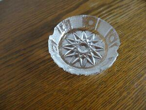 Kristall Aschenbecher Crystal Cristal handgeschliffen Ungarn