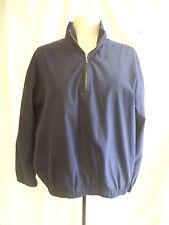Mens Jacket - Eddie Bauer, size S/P, navy, golf, sport, active, pullover - 7344