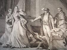 GRAVURE XVIIIe / REPUDATION D'ELEONORE QUI SE REMARIE AU ROI D'ANGLETERRE AN1152