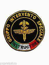 Patch GIS Instructor Gruppo Intervento Speciale Carabinieri con Bandiera Italia