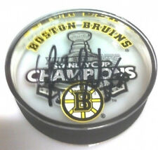 Tim Thomas Bruins signed acrylic Stanley Cup Champ Puck