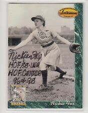 1994 TW NICKIE FOX AUTOGRAPH CARD AAGPBL ROCKFORD PEACHES LEAGUE OF THEIR OWN