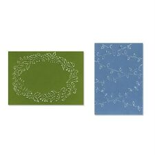 Sizzix Textured Impressions Embossing Folders 2PK - Christmas Lights & Holly