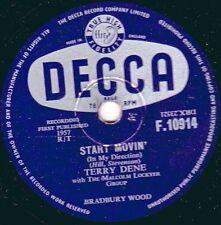 1957 UK No15 78rpm TERRY DENE - START MOVIN' / GREEN CORN  DECCA F 10914 EX