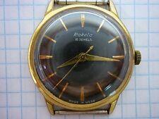 Vintage watches RAKETA  2209 de luxe rare USSR black dial 16 jewels