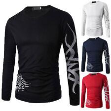 Hombre Corte Slim Casual Suéter Cuello redondo Camisetas De Algodón Jersey