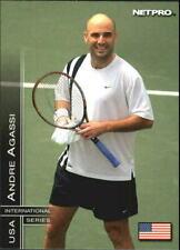 ANDRE AGASSI 2003 NETPRO ROOKIE CARD #15! INTERNATIONAL SERIES USA!