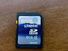 Kingston 8GB SD SDHC Memory Card for Canon Nikon Sony Digital Cameras