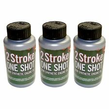 3 X Dos (2) tiempos aceite One Shot Botellas Ideal Para Motosierra McCulloch 50:1 Mix