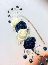 Côté Diadème Fascinator mariage demoiselle d/'honneur-Bleu Pâle /& Aqua Bandeau FAIT MAIN