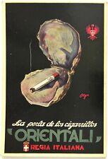 ORIENTALI TABACCO REGIA ITALIANA cartolina pubblicitaria Sigarette