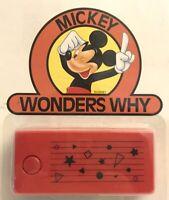 Mickey Mouse Camera Vintage Mickey Wonders Why Disney Camera NRFP NOC