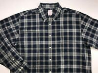 NWT BROOKS BROTHERS MADISON LONG SLEEVE BUTTON DOWN SHIRT LARGE BLUE PLAID