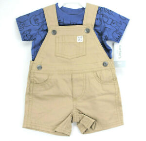 Carter's Baby Boy Doggy Shortall Set Summer Outfit Size 3 6 Months 3M 6M NWT NEW