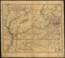 A4 Reprint of Lakes And Rivers Map Virginia