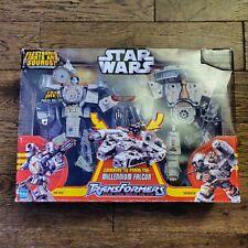 NEW 2006 STAR WARS Millennium Falcon TRANSFORMERS Han Solo Chewbacca