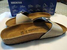 Tong femme claquettes chaussures été birkenstock 39 Madrid colori nature ficelle