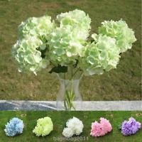 6 Köpfe 1 Bund künstliche Blumenstrauß Hortensie Party Home Hochzeit Dekor