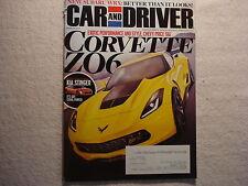 Car and Driver 2014 March Corvette ZO6 Kia Stinger Subaru WRX Mustang GT Honda