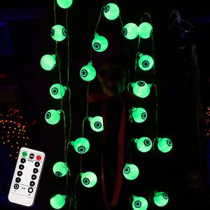 40 Led Eyeball Halloween  Home  Party Decor Lights Outdoor Lamp 19.7 Ft Indoor