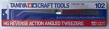 Tamiya Craft Tools 74102 HG Reverse Action Angled Tweezers NIP
