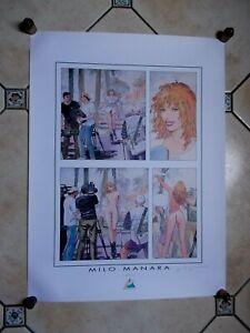 "Milo Manara ( Art Print ) "" The Movie "" Belle Signature au crayon ( 80 x 60 cm )"