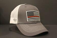 New Firefighter Thin Red Line Baseball Cap Trucker Hat American Flag Firemen